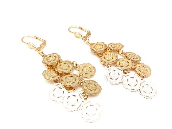H95 Flower Chandelier Earrings