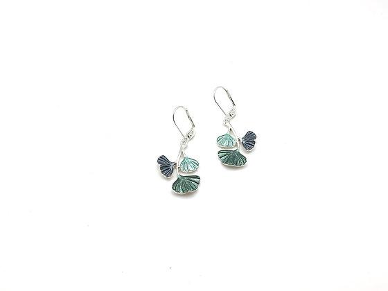 SE41 Gingko Green Earrings