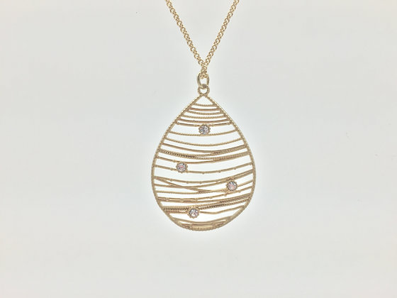 NG18 SALE $13 FINAL PRICE Gold Dew Drop Necklace