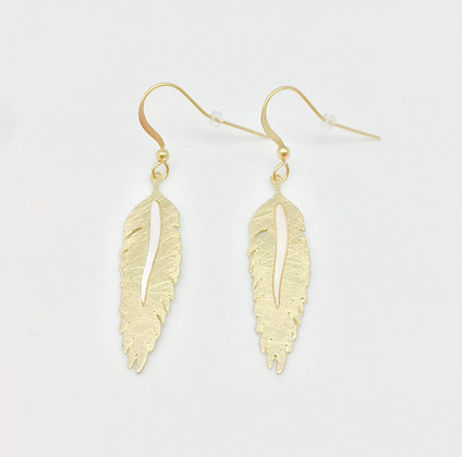 EG126 Gold Hane Earrings
