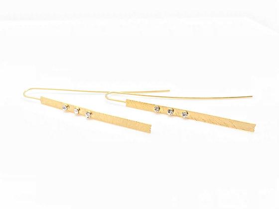 EG211 New! Gold Hanao Stick Earrings