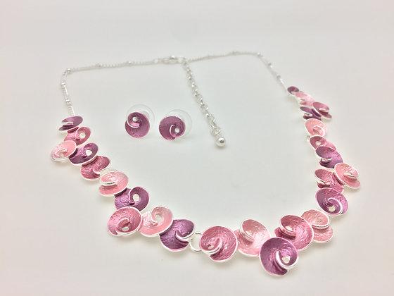 #37 Pink Maki (Swirl) Necklace Set
