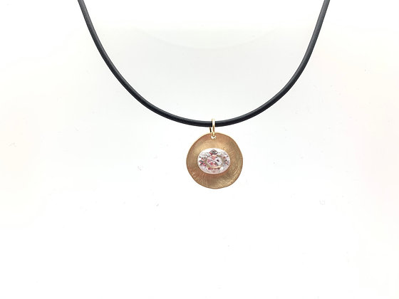 NG70 Gold and Silver Swarovski Necklace