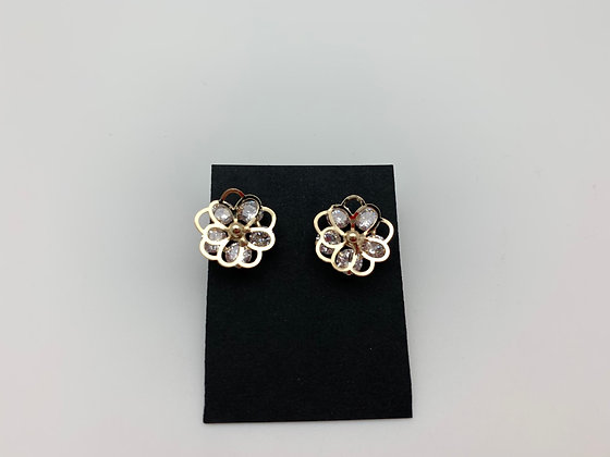 H115 Gold 3D Flower with CZ