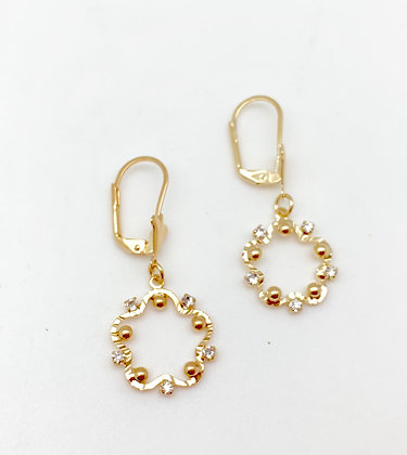 H117 Dancing CZ Small Earrings