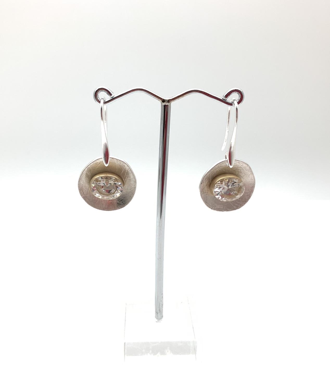 Thumbnail: EG430 Gold and Silver Swarovski Drop Earrings (Matching Necklace NG69)