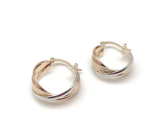 H153 Tricolor Small Hoop, Best Selling