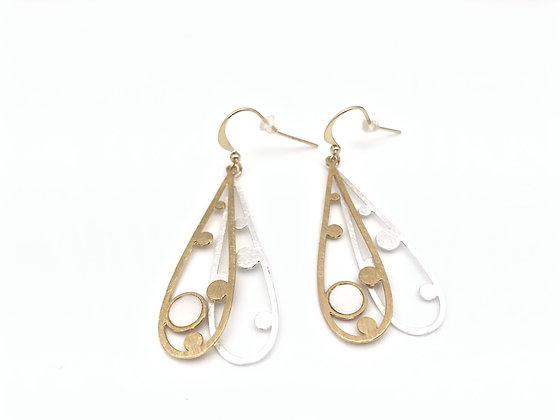 EG384 Gold and Silver Suiteki Earrings, Best Seller!