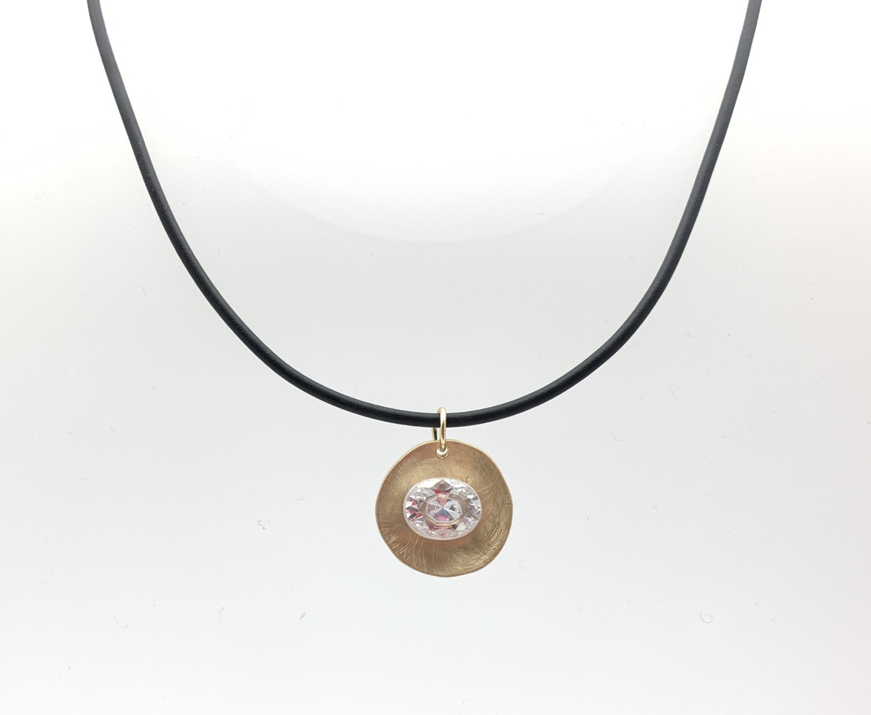 Thumbnail: NG70 Gold and Silver Swarovski Necklace