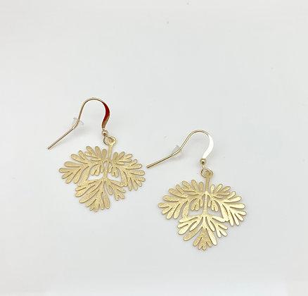 EG302 Gold Momiji Branch Earrings