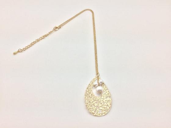 NG35 SALE FINAL PRICE $10 Gold Pearl Teardrop N