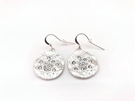ES272 Silver Meteorite Earrings