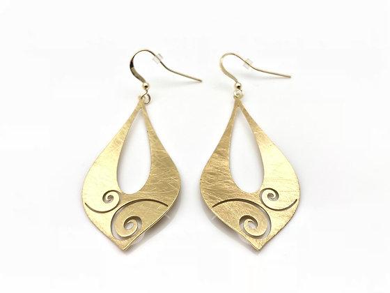 EG197 New! Gold Wind Earrings