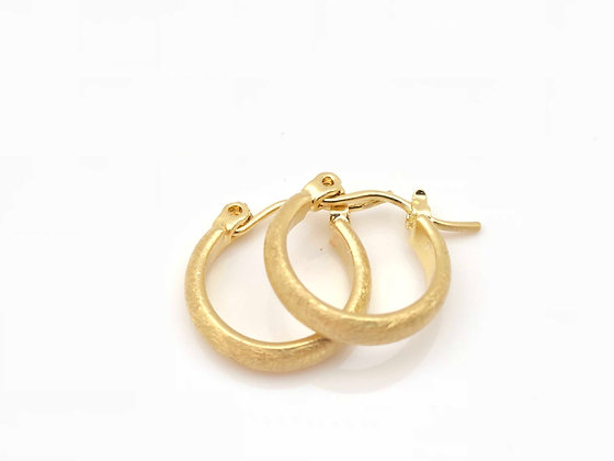 EG207 New! Gold Small Perfect Hoop Earrings