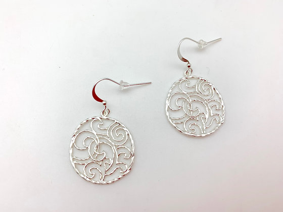 ES361 Silver Wave Earrings