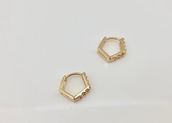 H122 Geometric Huggie Earrings