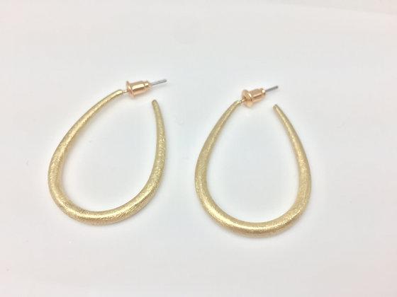 EG81 Gold Abstract Hoop Earrings
