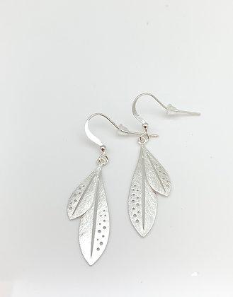Es297 Silver Tropical Earrings