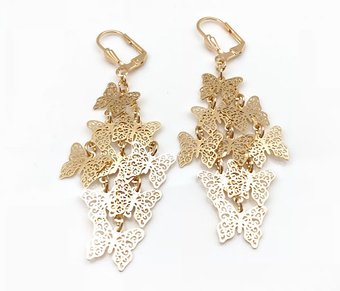 H82 Cascading Gold Butterfly