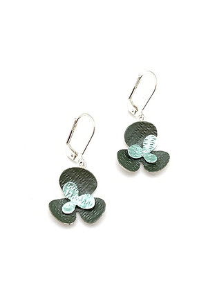 SE29 Sakura Green Combination Earrings
