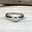 Thumbnail: SR17 Turquoise Pearl Silver Ring