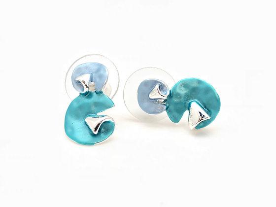 SE21 Ocean Blue Bubbles Post Earrings