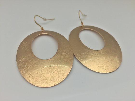 GER 31. Gold Open Oval Earrings