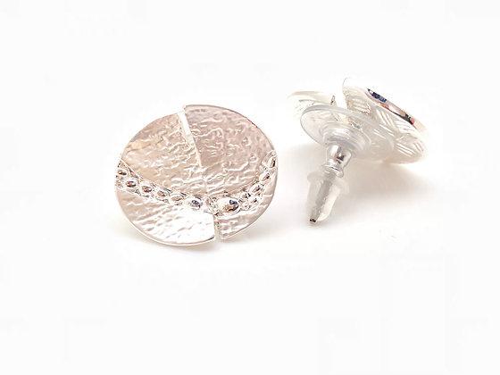 SE22 Silver Moon Post Earrings