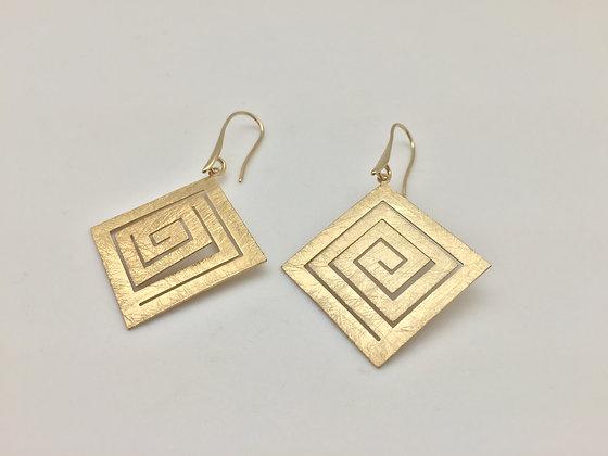 E1. Gold Tone Earrings