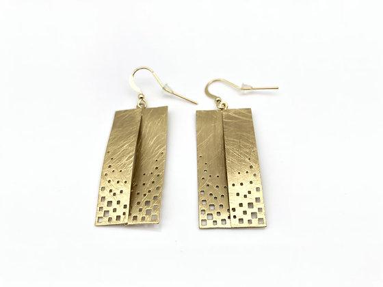 EG267 Gold Origami Earrings