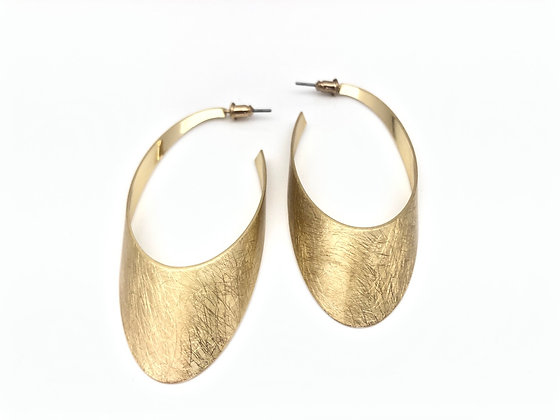 EG380 Gold Oval Hoop, Best Seller!