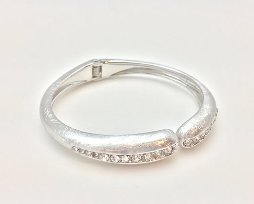 BS19 Silver with CZ Hinge Bracelet