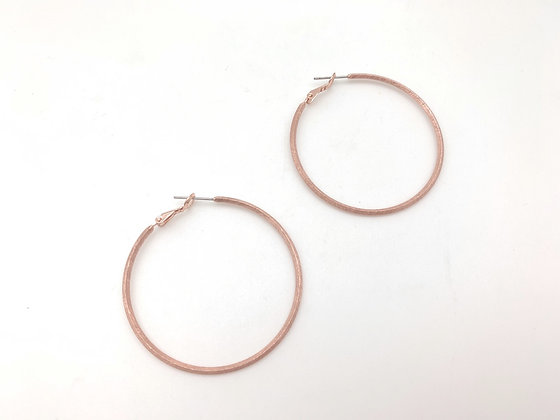 ER414 Rose Gold Perfect Skinny Hoop, New Color as Requested