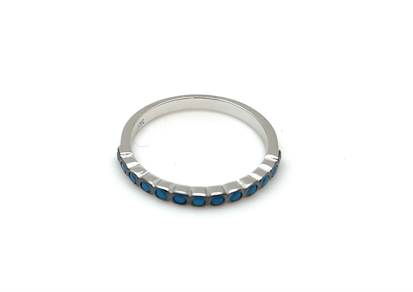 SR15 Tiny Turquoise Silver Band