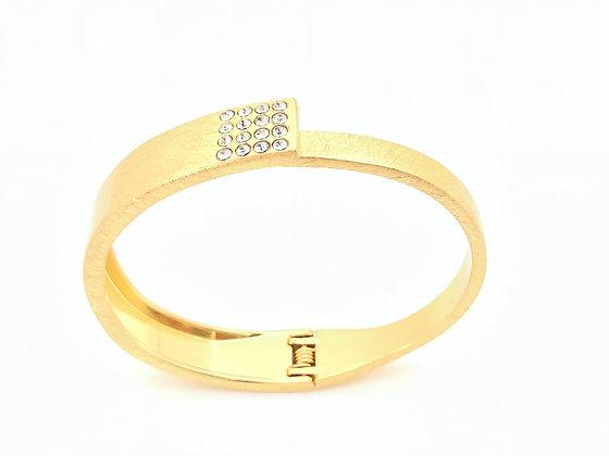 BG43 Gold Sparkling Obi Bracelet