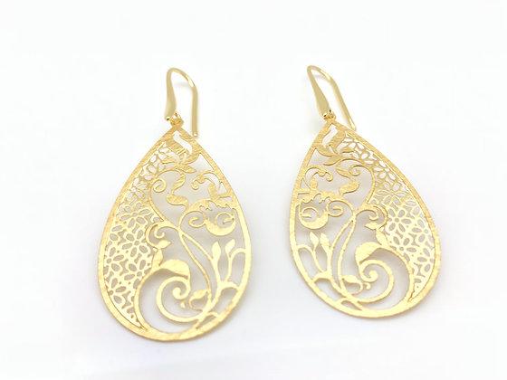 EG281 Gold Kimono Earrings