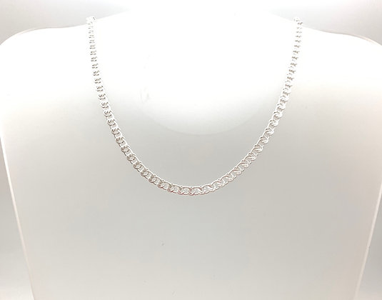 "NS66 Silver Classic Necklace 16"" with 3"" extension"