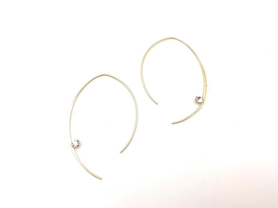 EG404 Gold Miki's Sparkle Hoop, Best Seller