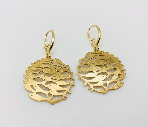 EG163 Gold Sakana Earrings