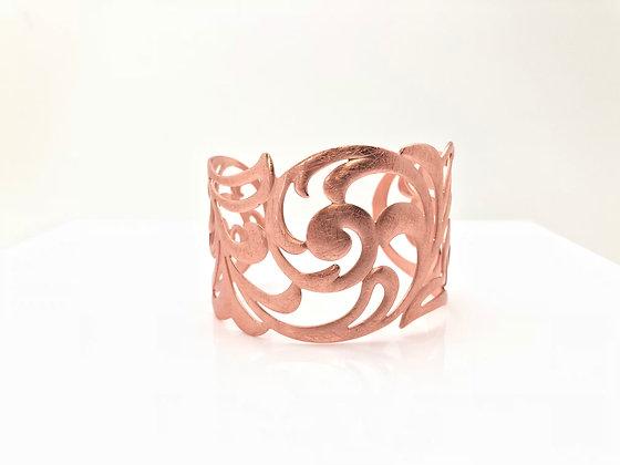 BR36 New! Rose Gold Kimono Cuff Bracelet