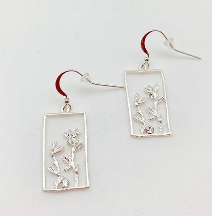 ES360 Silver Window Earrings