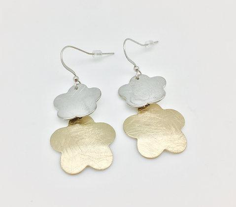 EG146 Two Tone Sakura Earrings