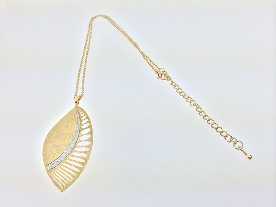N552 Sale $10 Gold Butterfly Wing Necklace