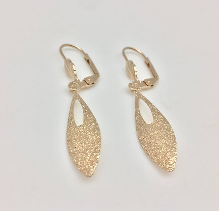 H21 Drop Earrings, Gold Fill, Lever Back