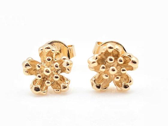H90 Small Sakura Post Earrings