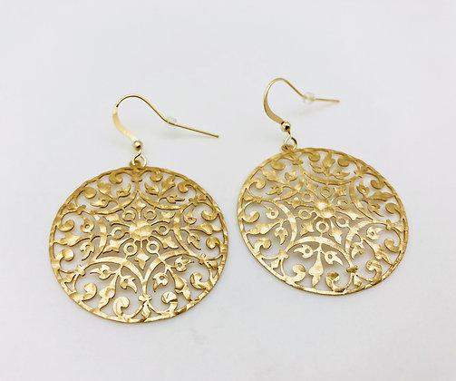 EG173 Gold Mandara Earrings