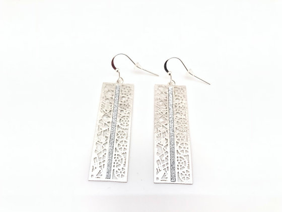 ES290 Silver Sparkling Tokei Earrings
