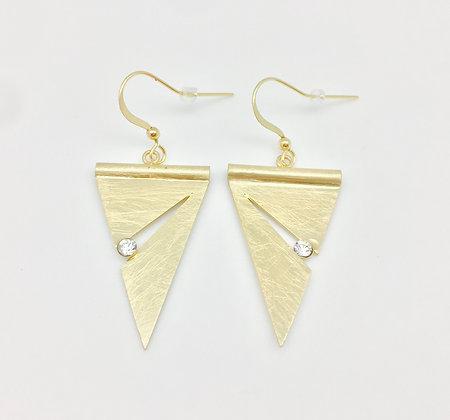 EG122 Gold Noren Earrings