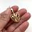 Thumbnail: H173 Swirl Heart Gold Earrings