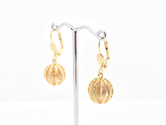 H75 Gold Sphere Earrings